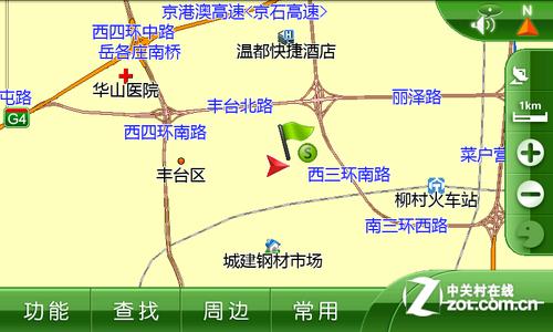 图为:凯立德导航地图