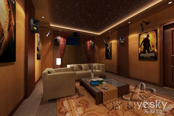 山庄家庭影院欣赏效果图设计--富和双盛天泉别墅盱眙私人图片