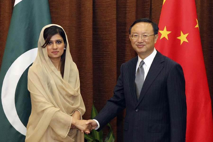 巴基斯坦美女外长希娜随总统扎尔达里访问中国 新闻