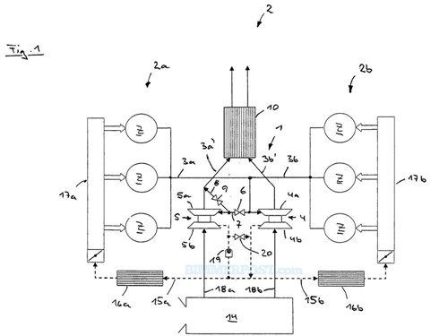 海外媒体曝光的这组发动机专利图,包括了从v6到v8的一系列发动机