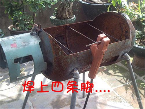 自制燒烤爐; 燒烤店煤氣罐爆燃(組圖); 煤氣罐搖身一變——燒烤爐_鍵