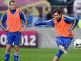 乌克兰队训练备战欧洲杯