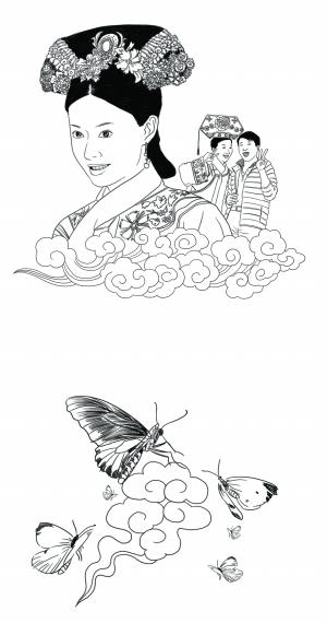 简笔画 手绘 线稿 300_570 竖版 竖屏