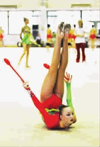 俄罗斯艺术体操选手训练刻苦