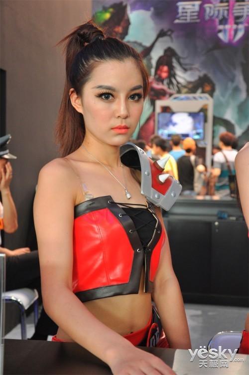 清纯还是性感?chinajoy火热美女看不够 科技频