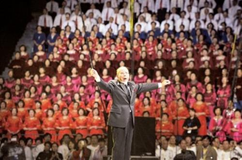 江畔1.3万人合唱 欢乐颂