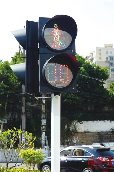 红灯和绿灯同时亮了起来 高清图片