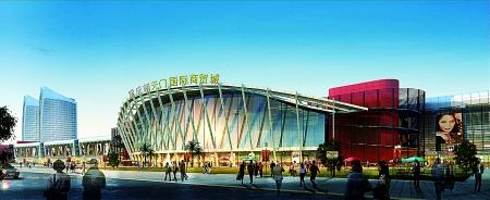 重庆朝天门国际商贸城市场交易区 效果图高清图片