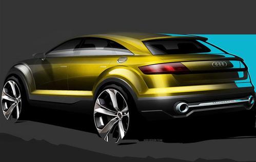 从设计图中可以看出,奥迪q4概念车借鉴了新一代tt的设计思