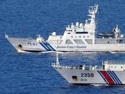 中国13艘公务船巡航钓鱼岛海域